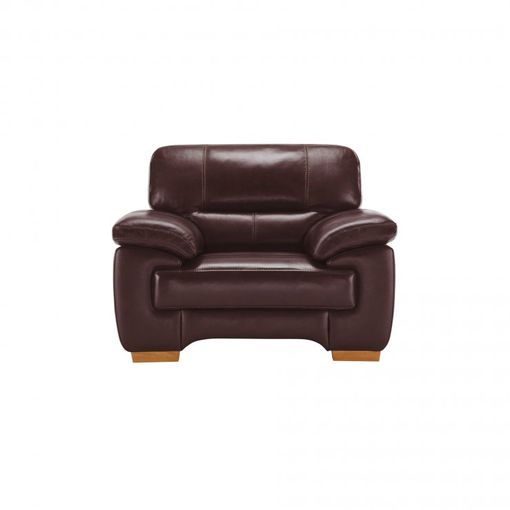 Clayton Armchair in Burgundy Leather - Image 2