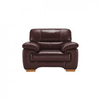Clayton Armchair in Burgundy Leather