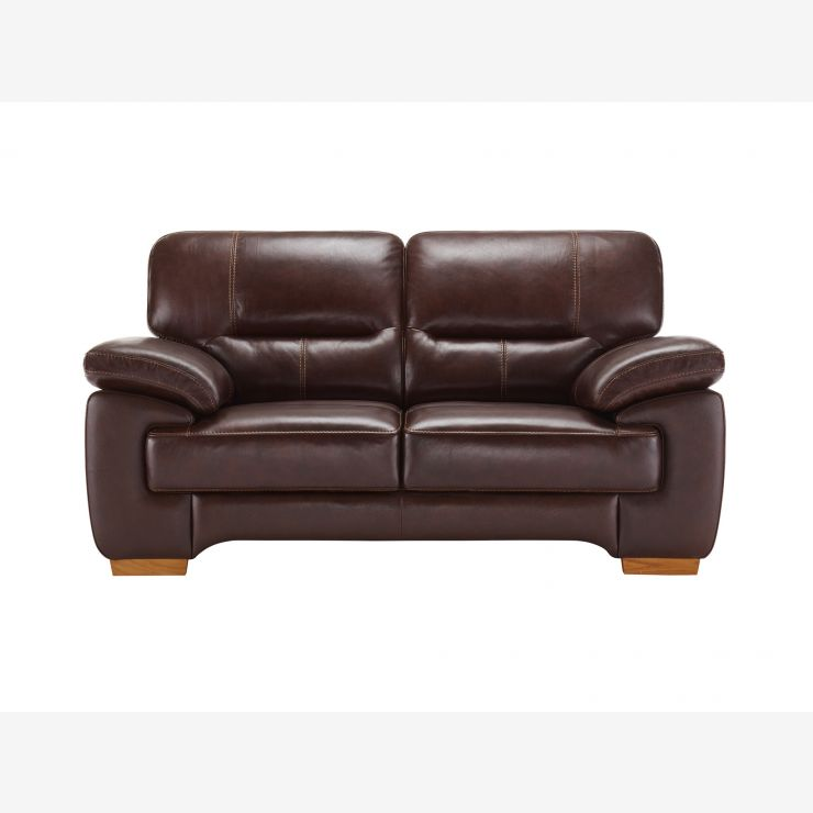 Clayton 2 Seater Sofa in Brown Leather - Image 1
