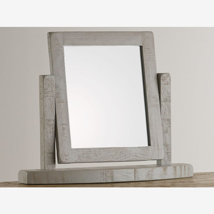 Clermont Painted Rough Sawn Oak Dressing Table Mirror - Image 4