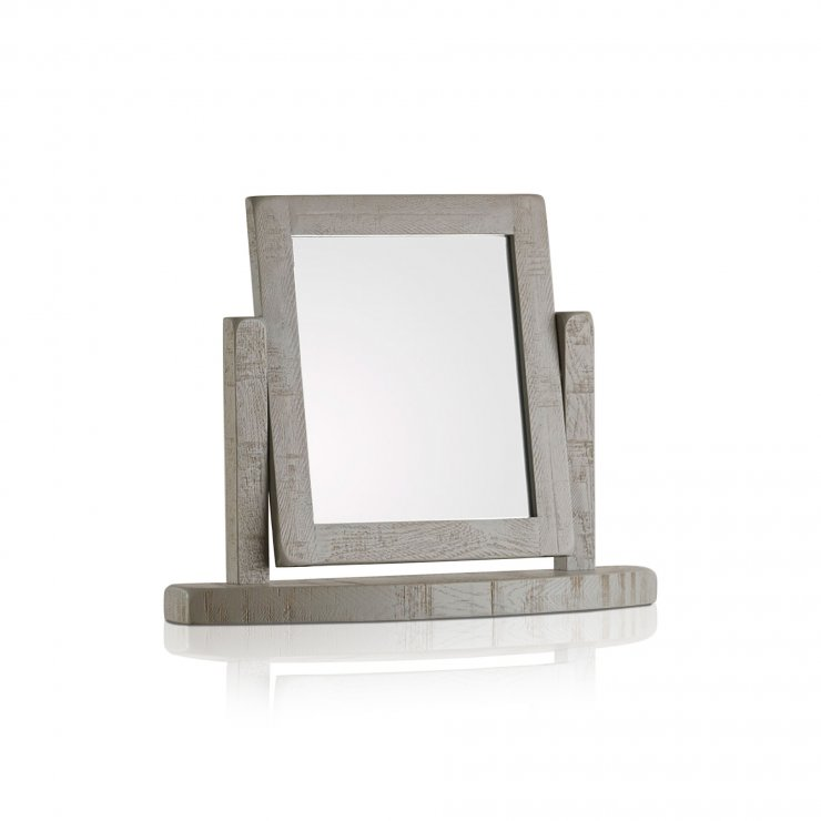 Clermont Painted Rough Sawn Oak Dressing Table Mirror - Image 3