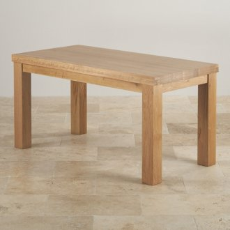 "Contemporary Chunky 5ft x 2ft 6"" Natural Solid Oak Dining Table"