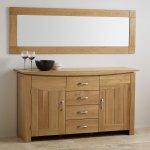 Contemporary Natural Solid Oak 1800mm x 600mm Wall Mirror - Thumbnail 3