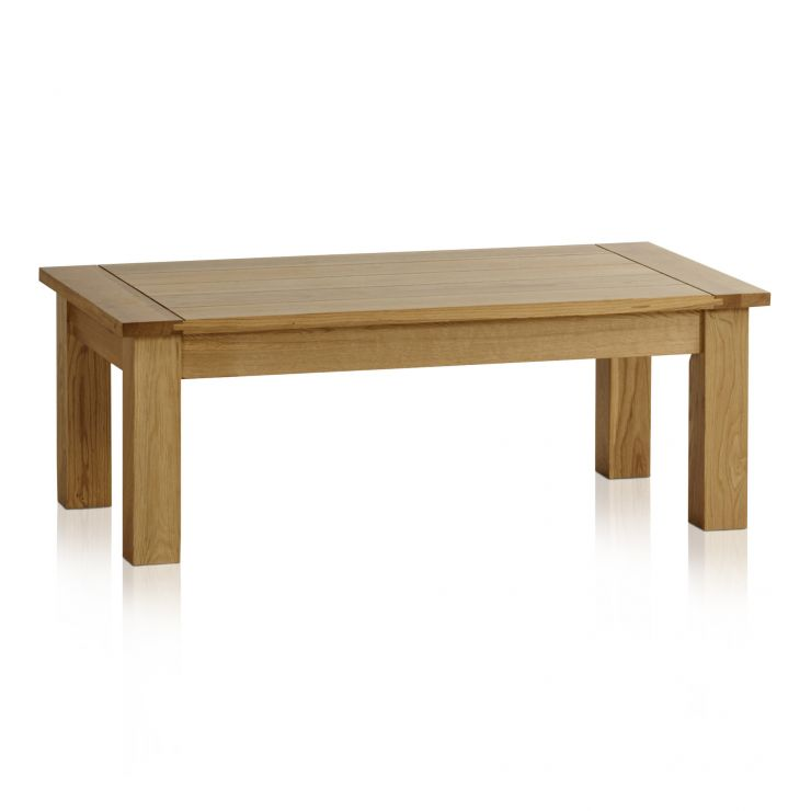 Contemporary Natural Solid Oak Coffee Table