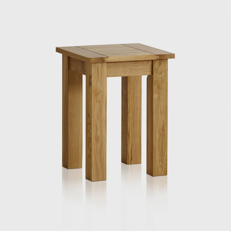 Contemporary Natural Solid Oak Lamp Table - Image 3