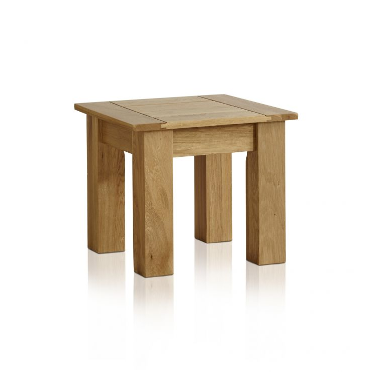Contemporary Natural Solid Oak Side Table - Image 4