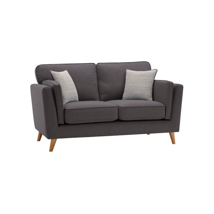 Cooper 2 Seater Sofa in Sprite Fabric - Charcoal