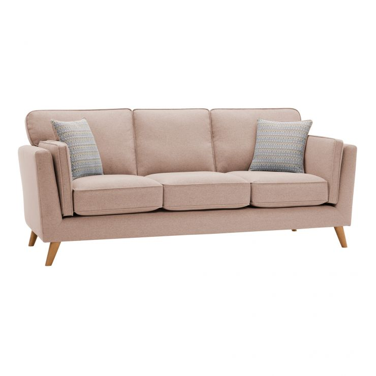 Cooper 3 Seater Sofa in Sprite Fabric - Beige