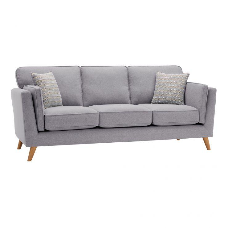 Cooper 3 Seater Sofa in Sprite Fabric - Silver - Image 11