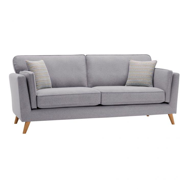 Cooper 3 Seater Sofa in Sprite Fabric - Silver