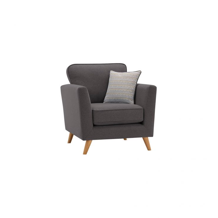 Cooper Armchair in Sprite - Charcoal