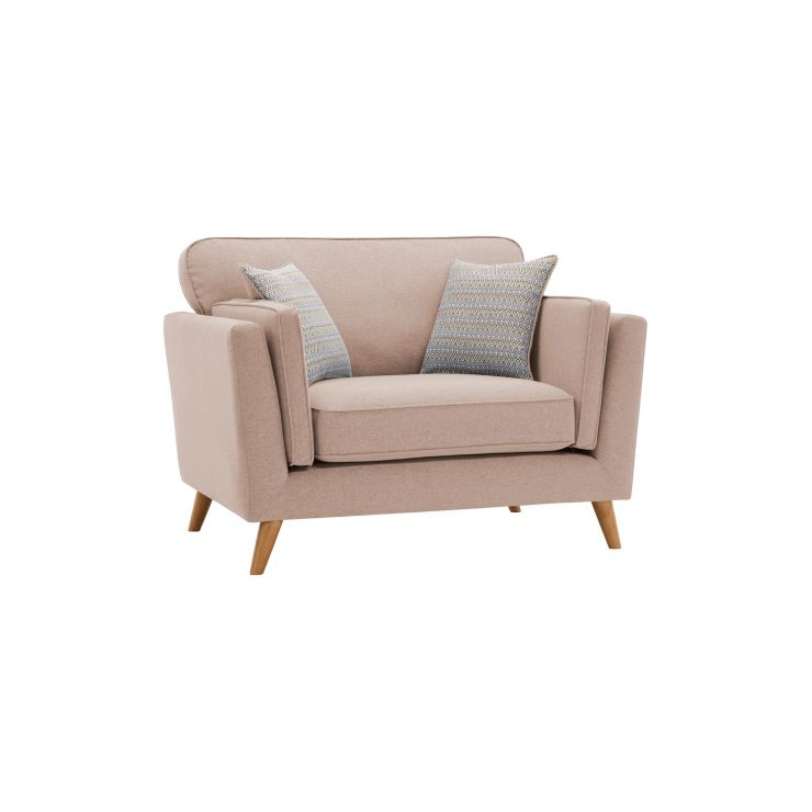 Cooper Loveseat in Sprite Fabric - Beige