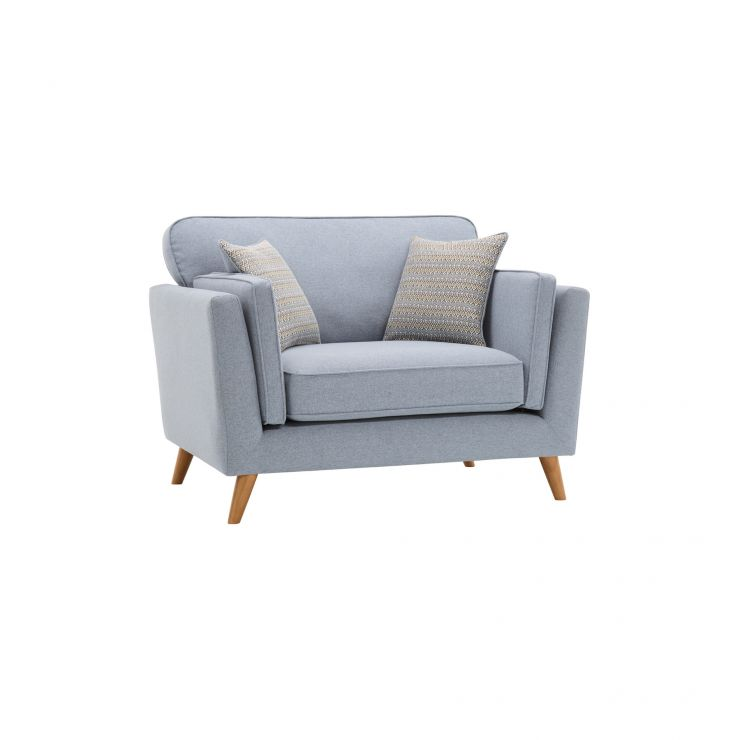 Cooper Loveseat in Sprite Fabric - Blue - Image 9