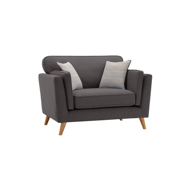 Cooper Loveseat in Sprite Fabric - Charcoal - Image 9