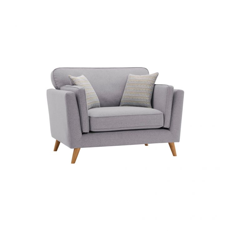 Cooper Loveseat in Sprite Fabric - Silver