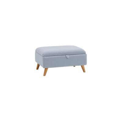 Cooper Storage Footstool in Sprite - Blue
