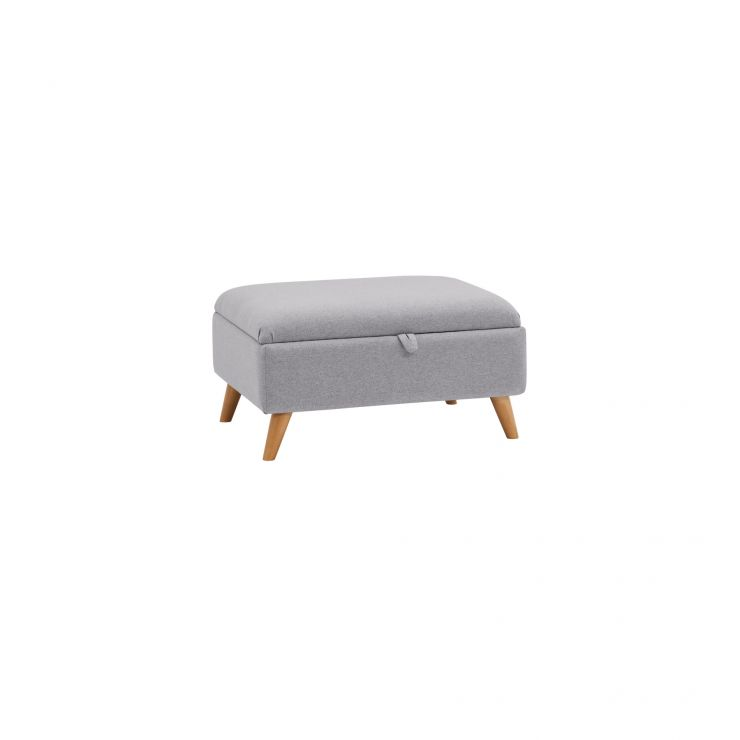 Cooper Storage Footstool in Sprite - Silver - Image 4