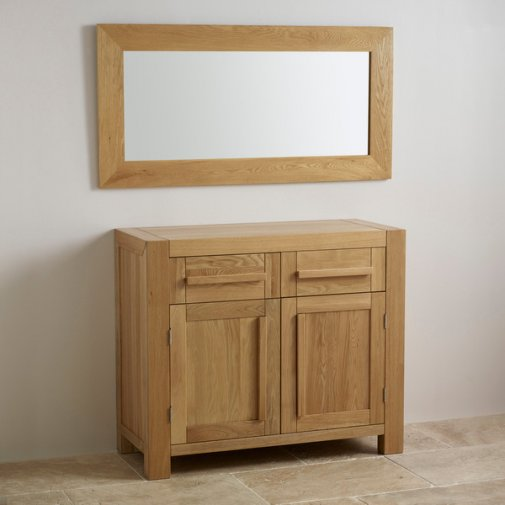 Cosmopolitan Mirror Natural Solid Oak 1200mm x 600mm Wall Mirror