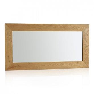 Cosmopolitan Mirror Natural Solid Oak 1200mm x 600mm Wall Mirror