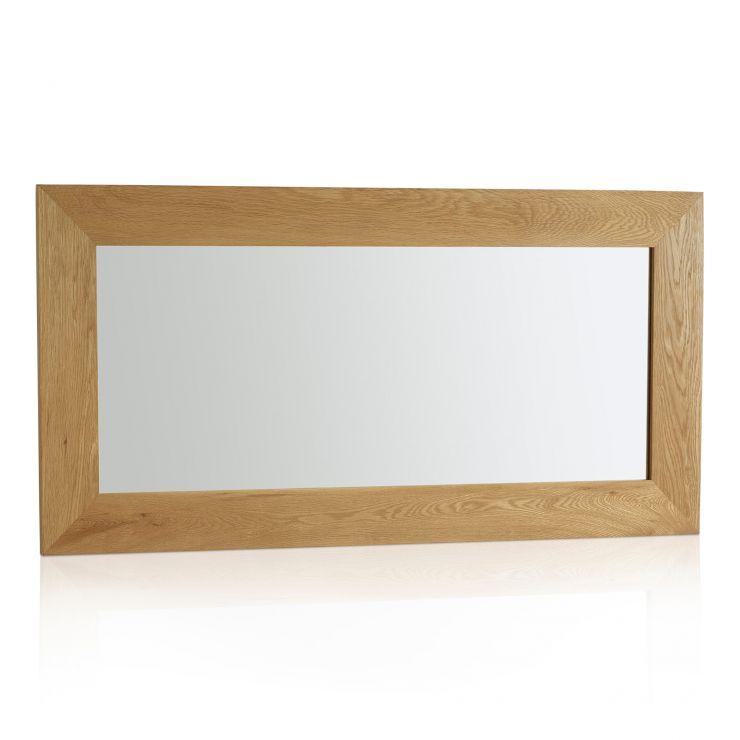 Cosmopolitan Mirror Natural Solid Oak 1200mm x 600mm Wall Mirror - Image 4