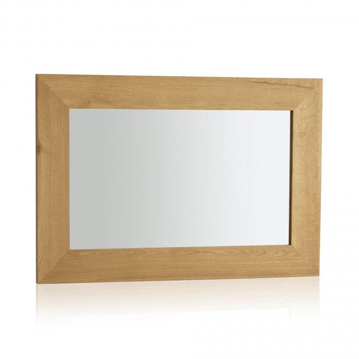 Cosmopolitan Mirror Natural Solid Oak 900mm x 600mm Wall Mirror - Image 3