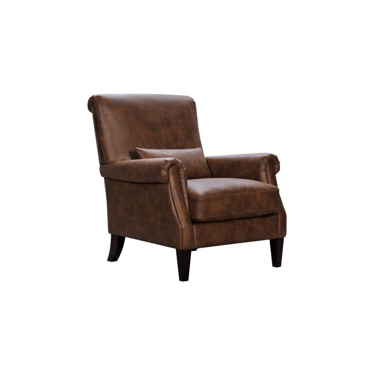 Costello Light Brown Fabric Accent Chair