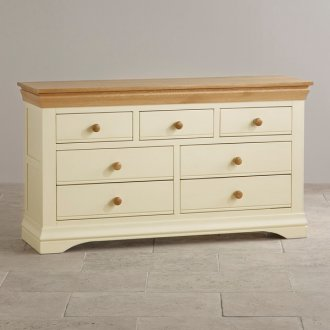 Country Cottage Natural Oak and Painted 3+4 Drawer Chest