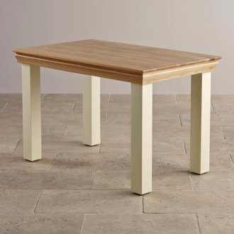 """Country Cottage Natural Oak and Painted 4ft x 2ft 6"""" Dining Table"""