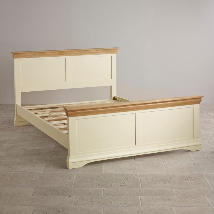 Country Cottage Natural Oak and Painted 6ft Super King-Size Bed