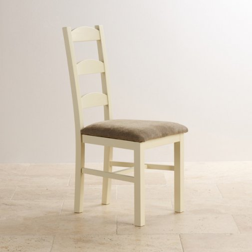 Country Cottage Natural Oak and Painted and Plain Sage Fabric Dining Chair