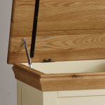 Country Cottage Natural Oak and Painted Blanket Box - Thumbnail 3