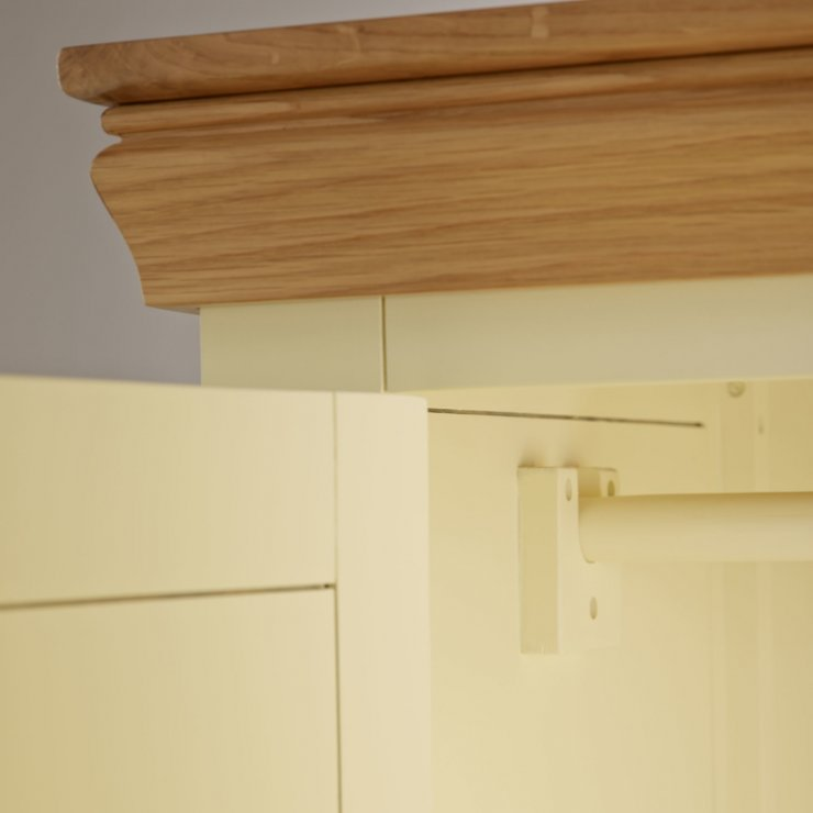 Country Cottage Natural Oak and Painted Double Wardrobe