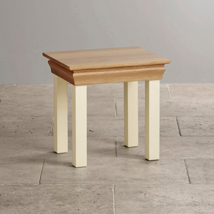 Country Cottage Natural Oak and Painted Dressing Stool