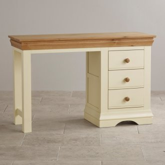 Country Cottage Natural Oak and Painted Dressing Table