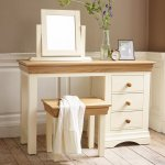 Country Cottage Natural Oak and Painted Dressing Table - Thumbnail 3