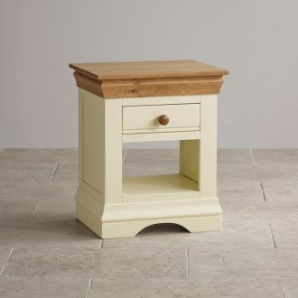 Country Cottage Natural Oak and Painted Lamp Table
