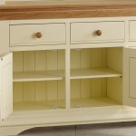 Country Cottage Natural Oak and Painted Large Dresser - Thumbnail 4
