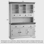 Country Cottage Natural Oak and Painted Large Dresser - Thumbnail 7