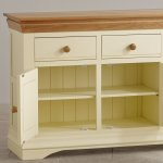 Country Cottage Natural Oak and Painted Large Sideboard - Thumbnail 4