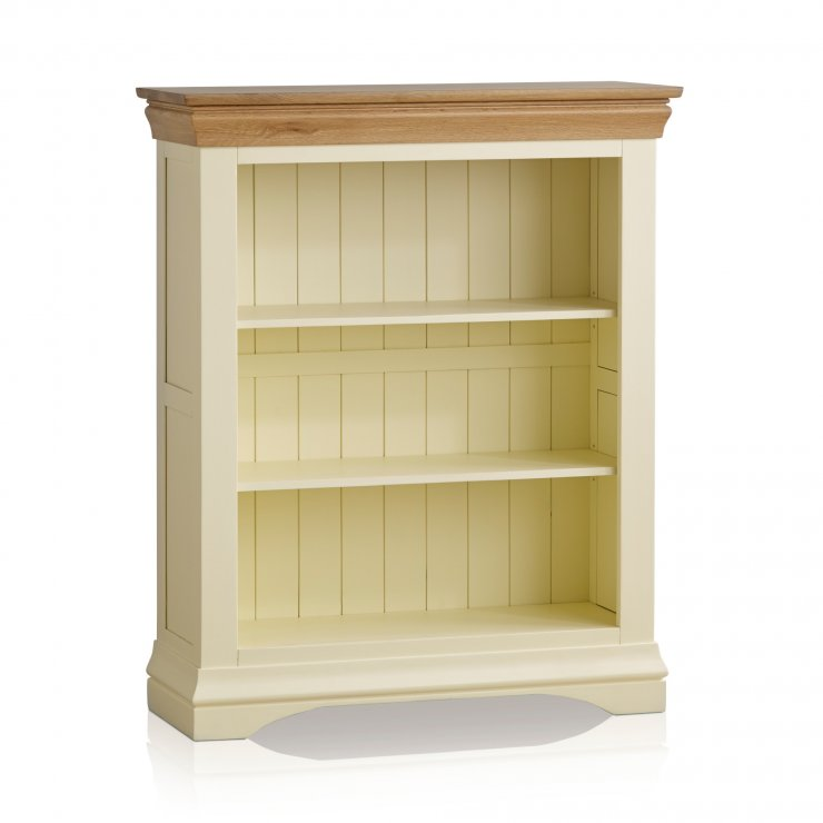 Country Cottage Natural Oak and Painted Small Bookcase - Image 5