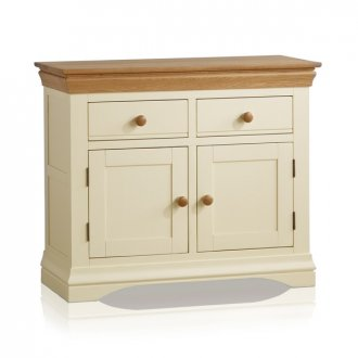 Country Cottage Natural Oak and Painted Small Sideboard