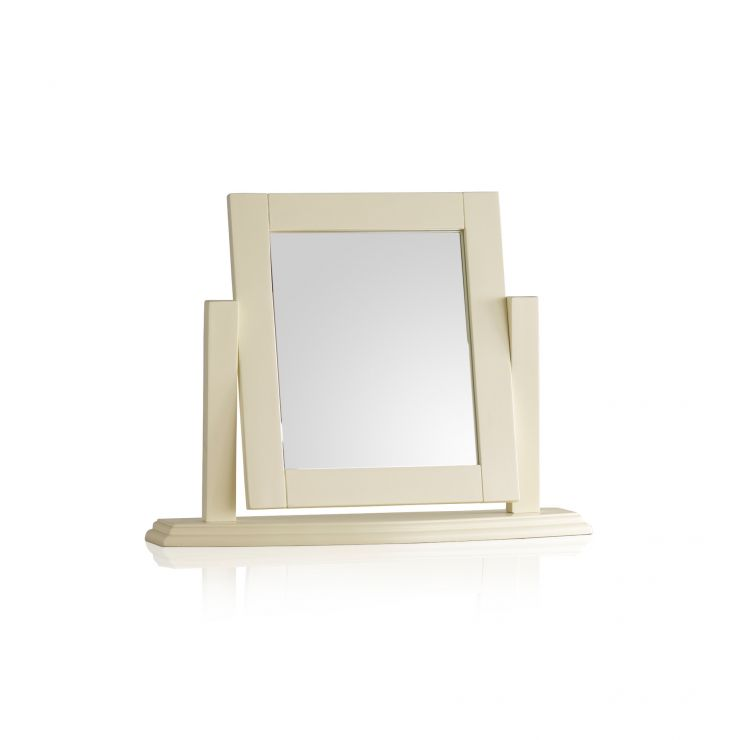 Country Cottage Painted Dressing Table Mirror - Image 4