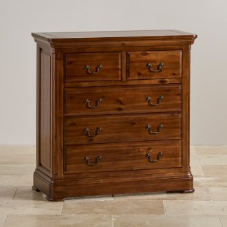 Cranbrook Solid Hardwood 3+2 Chest of Drawers