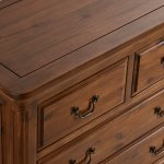 Cranbrook Solid Hardwood 3+2 Chest of Drawers - Thumbnail 6