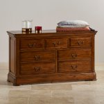Cranbrook Solid Hardwood 3+4 Chest of Drawers - Thumbnail 4