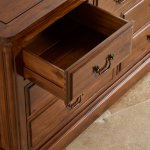 Cranbrook Solid Hardwood 3+4 Chest of Drawers - Thumbnail 7