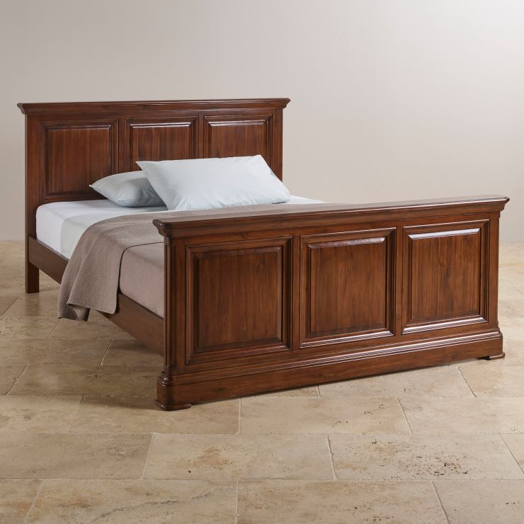 Cranbrook King Size Bed In Dark Hardwood Oak Furniture Land