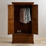 Cranbrook Solid Hardwood Double Wardrobe - Thumbnail 3