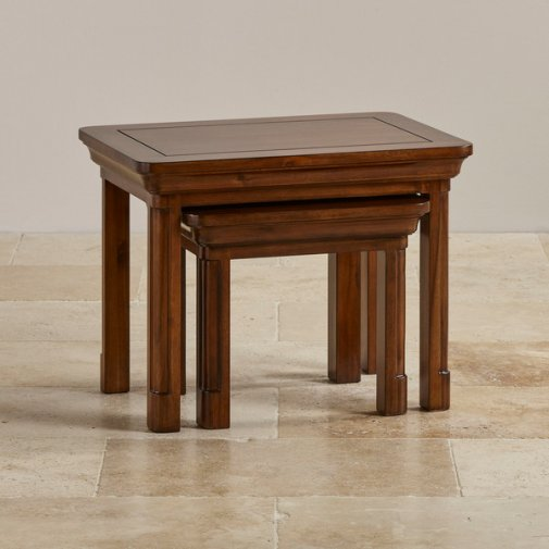 Cranbrook Solid Hardwood Nest of Tables