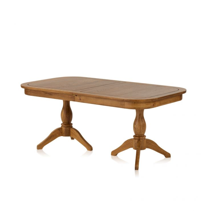 Crawford Rustic Solid Oak 6ft Extending Dining Table - Image 7